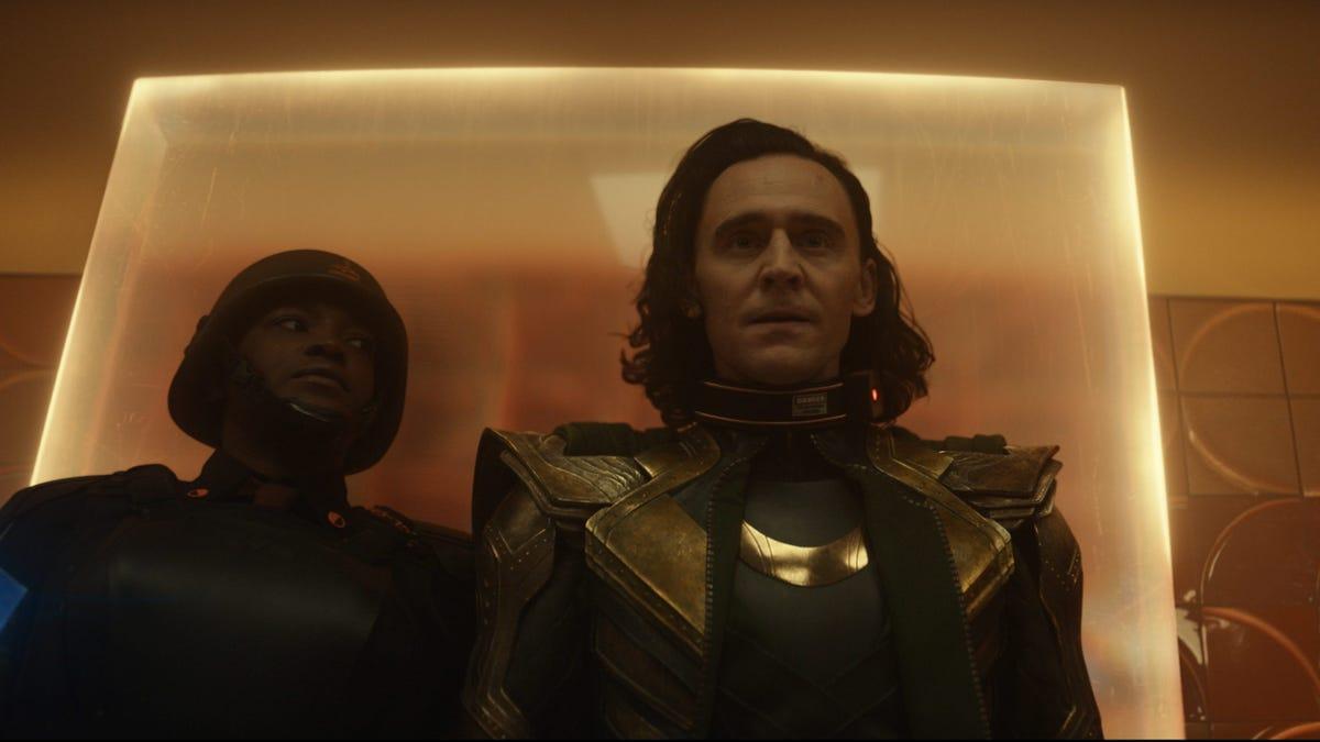 Tom Hiddleston in a scene from 'Loki' on Disney+ .