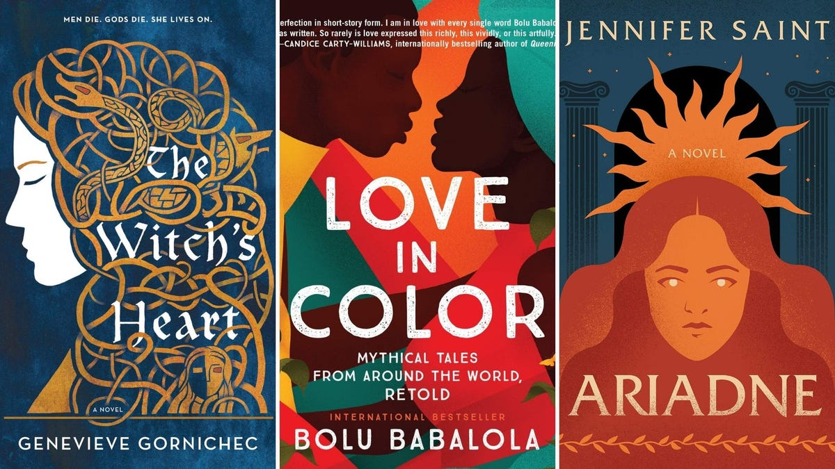 """Book covers for """"The Witch's Heart,"""" """"Love in Color,"""" and """"Ariadne"""""""