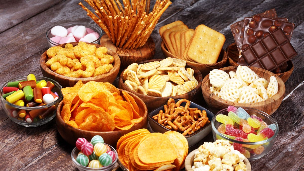 Snacks on a table.