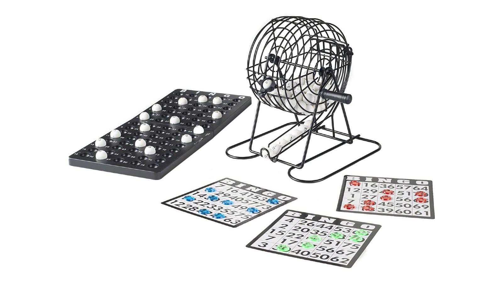a bingo set with 18 reusable bingo cards