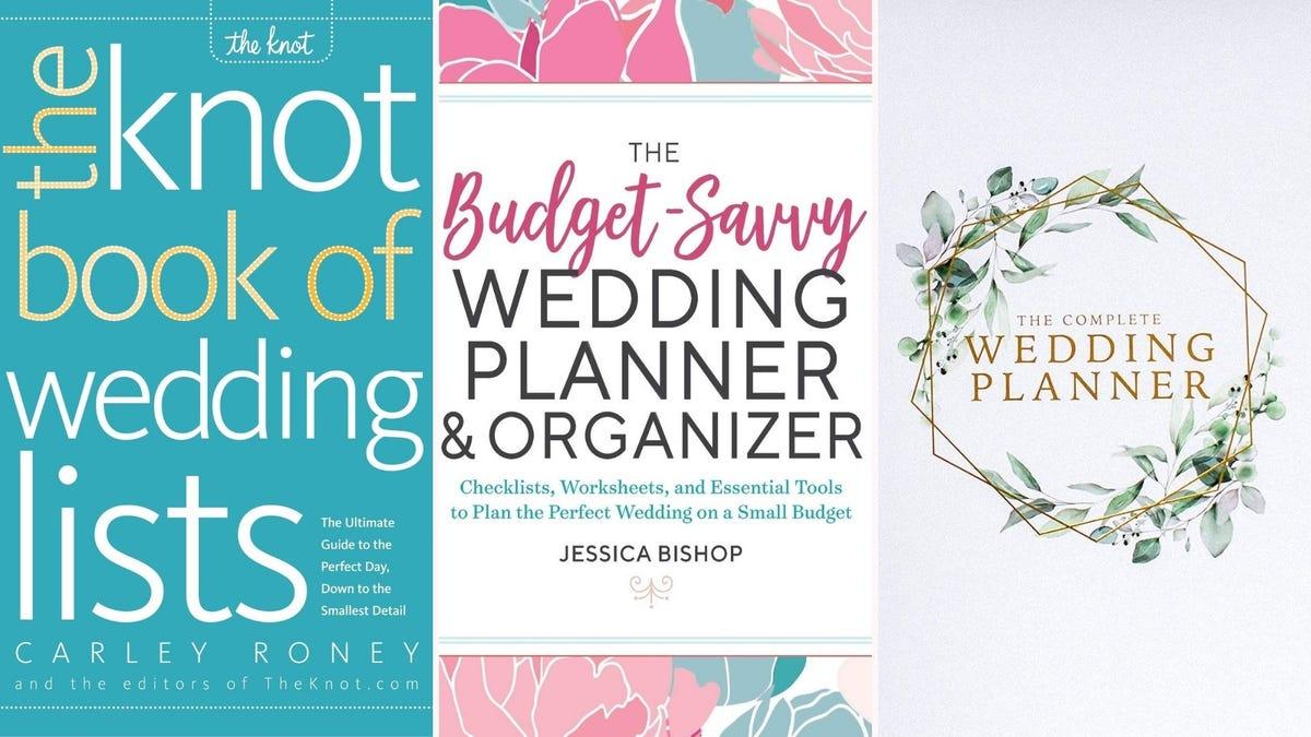 three different wedding planner books