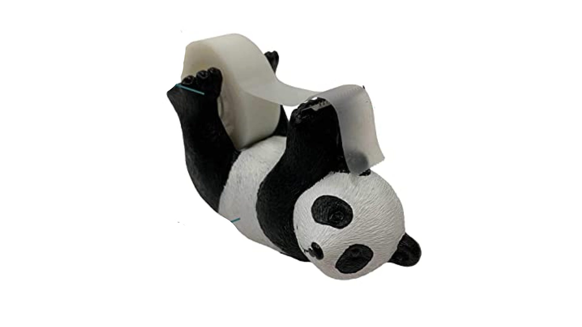 panda tape dispenser with roll of tape