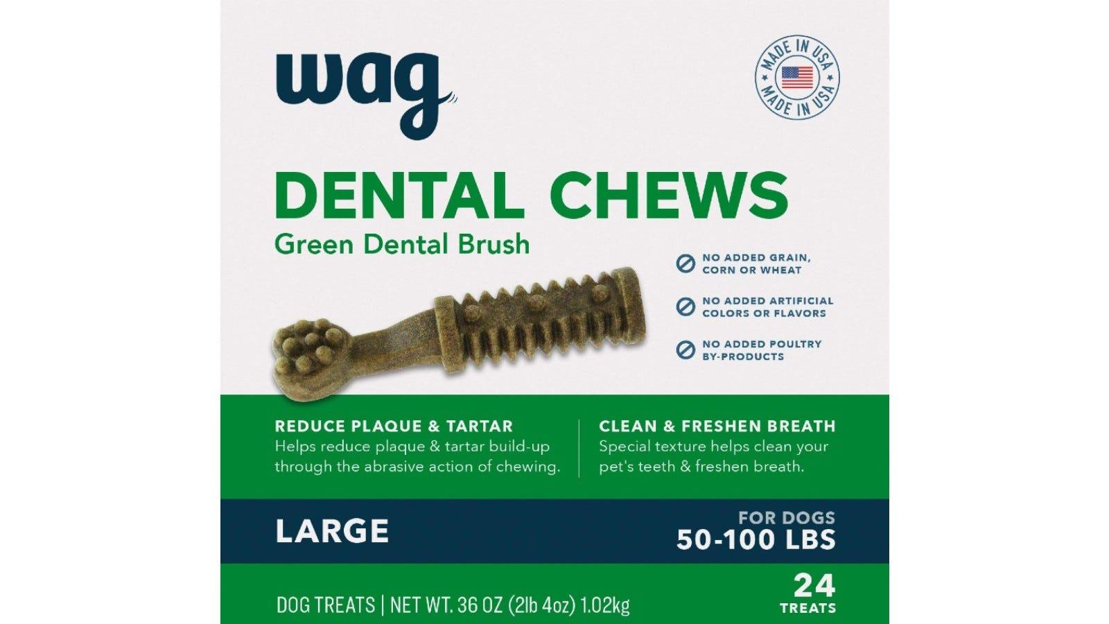 Dog treats that promote good dental hygiene