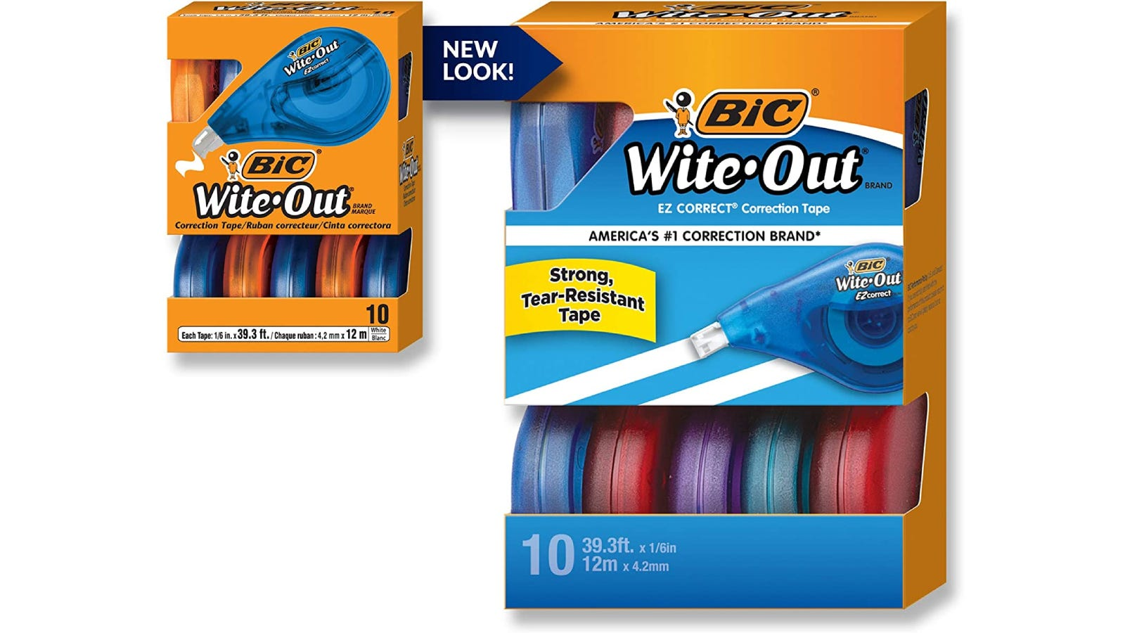 BIC Wite-Out correction tape within its packaging.