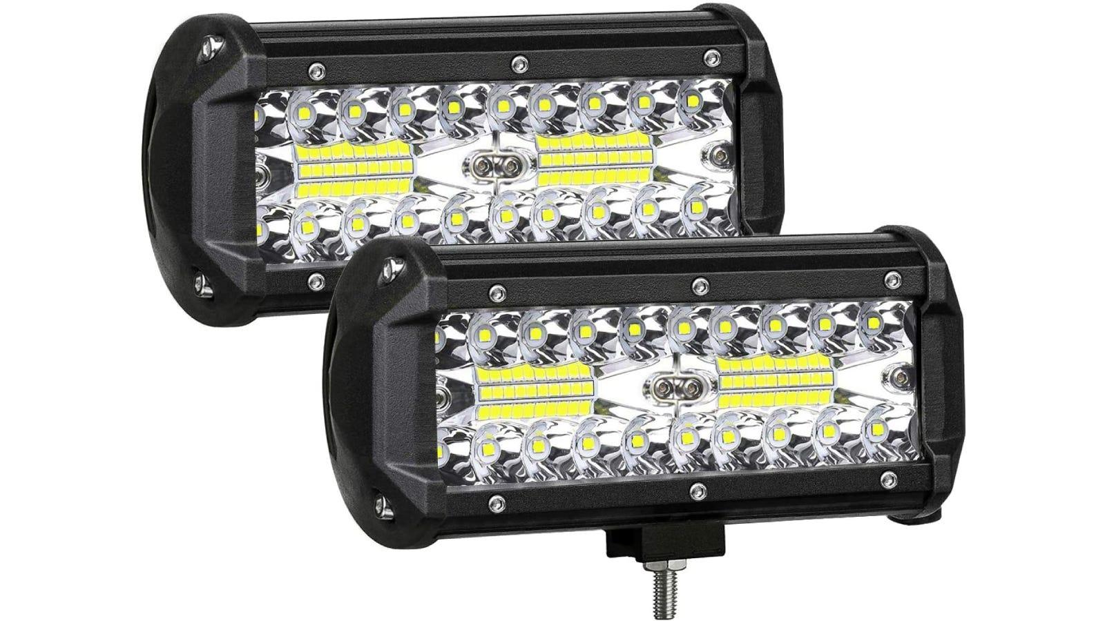 Two rectangular boat lights.