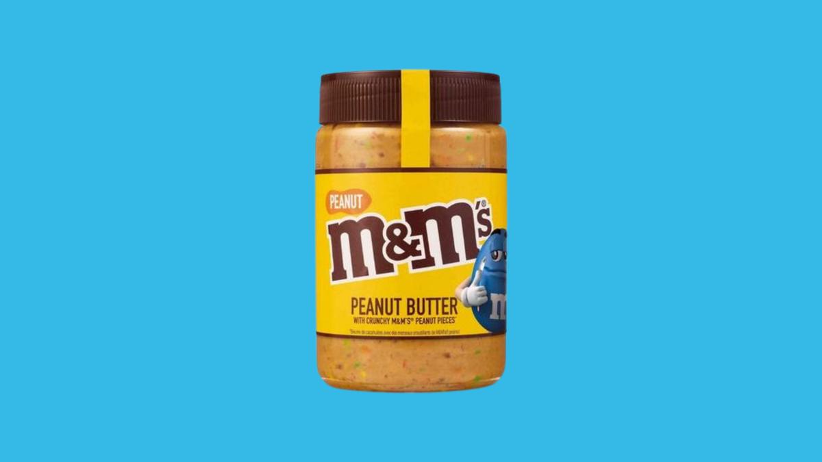 A jar of M&M's peanut butter.