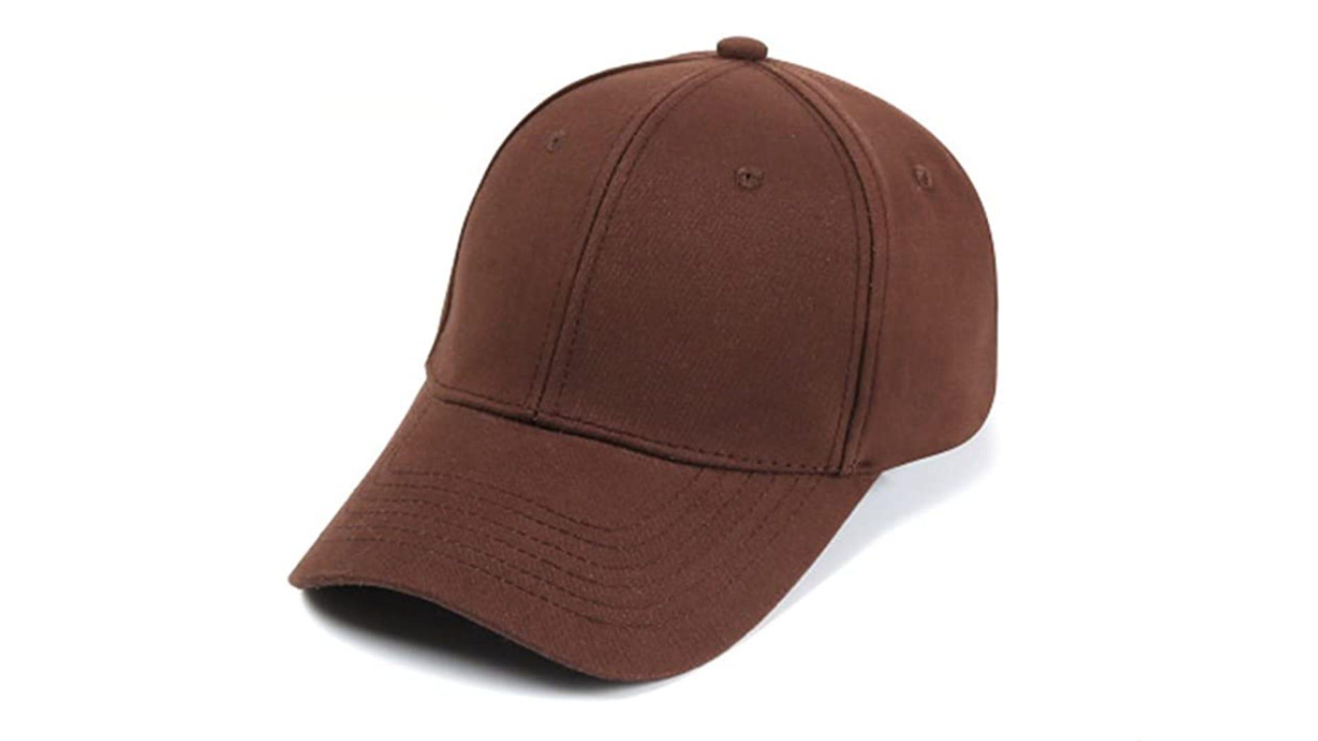 A brown trucker hat.