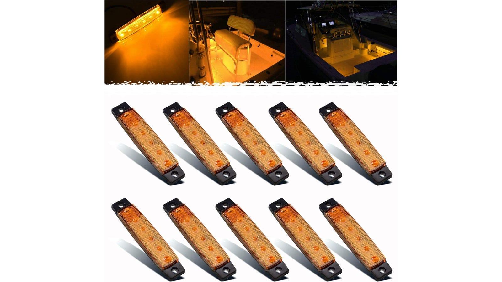 10 identical cockpit lights for your boat.