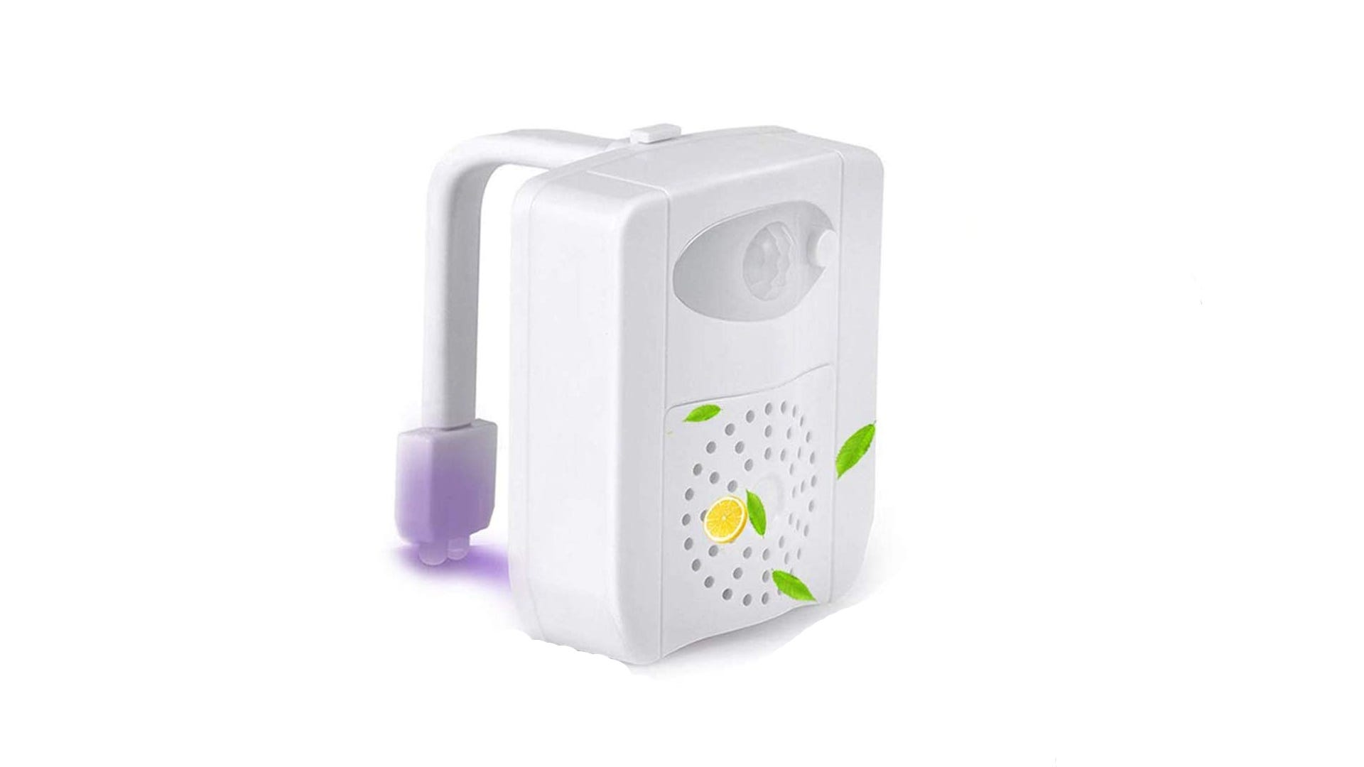 white toilet light with motion sensor and aromatherapy vent on front