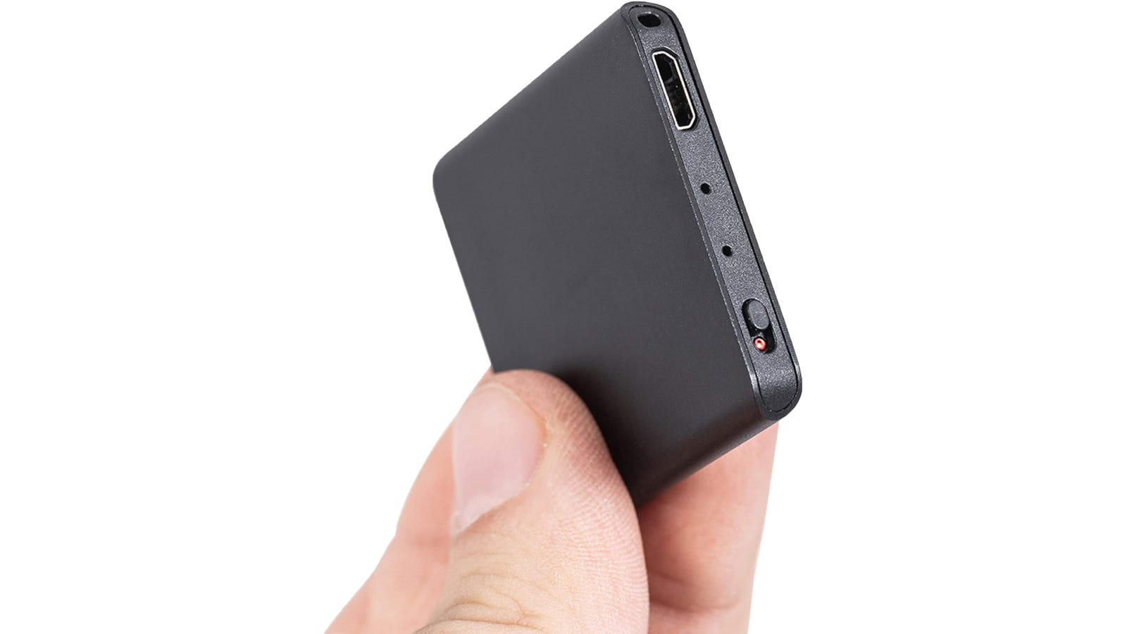 Ultra thin and compact tile-shaped voice recorder with voice activation sensor