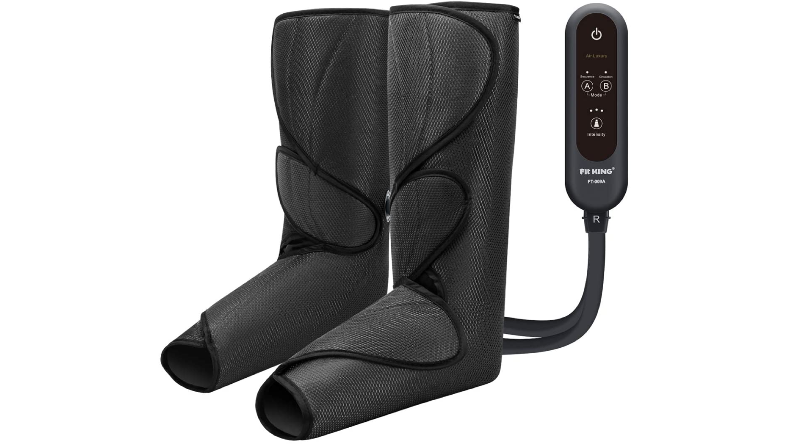 Black boot-like calf wraps with controller.