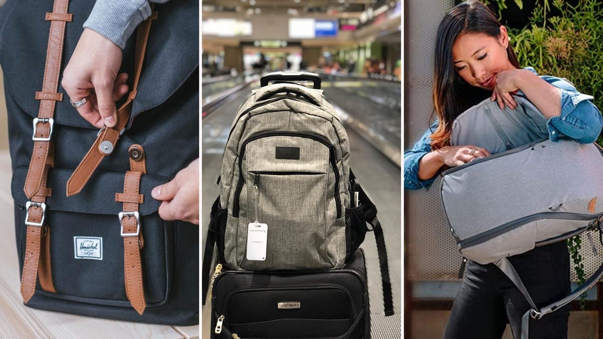 Three different styles of backpacks