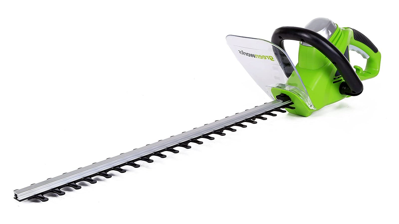 Green 22-Inch Corded Hedge Trimmer with 4-Amp motor and lightweight design