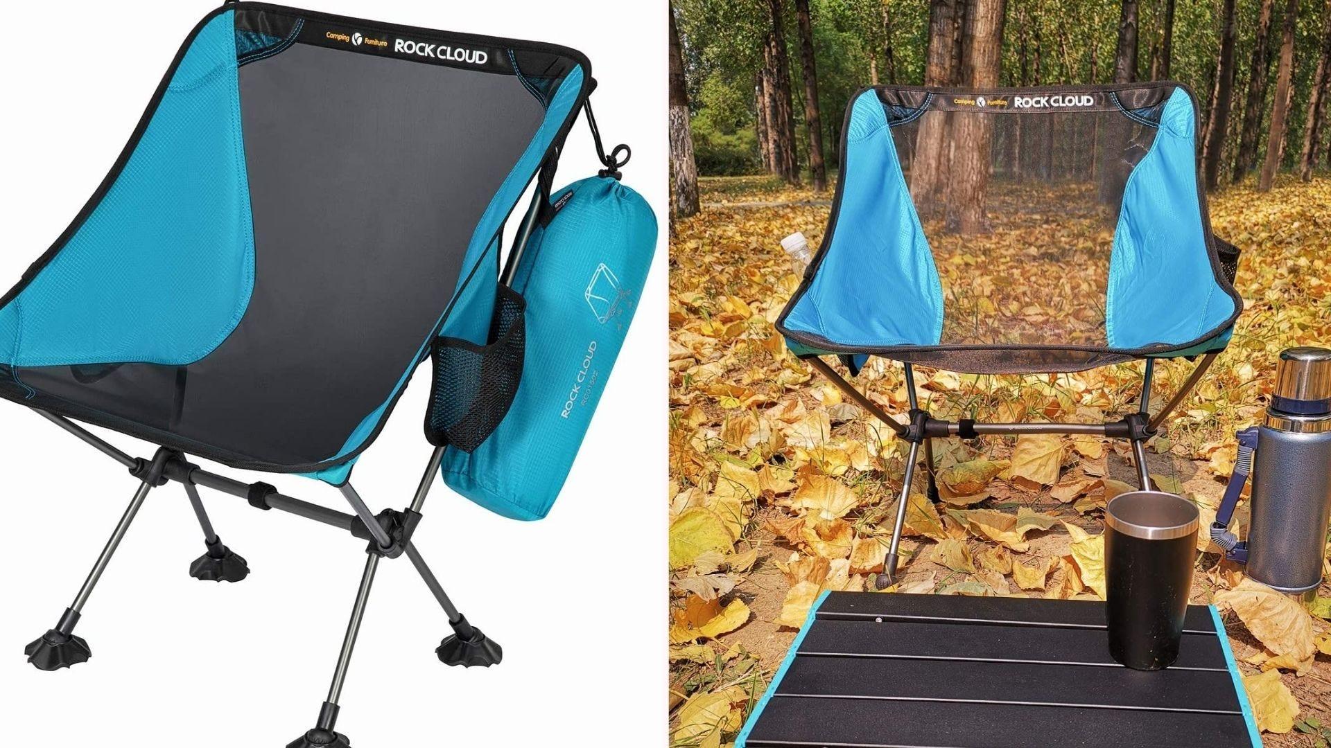a compact folding beach/camp chair