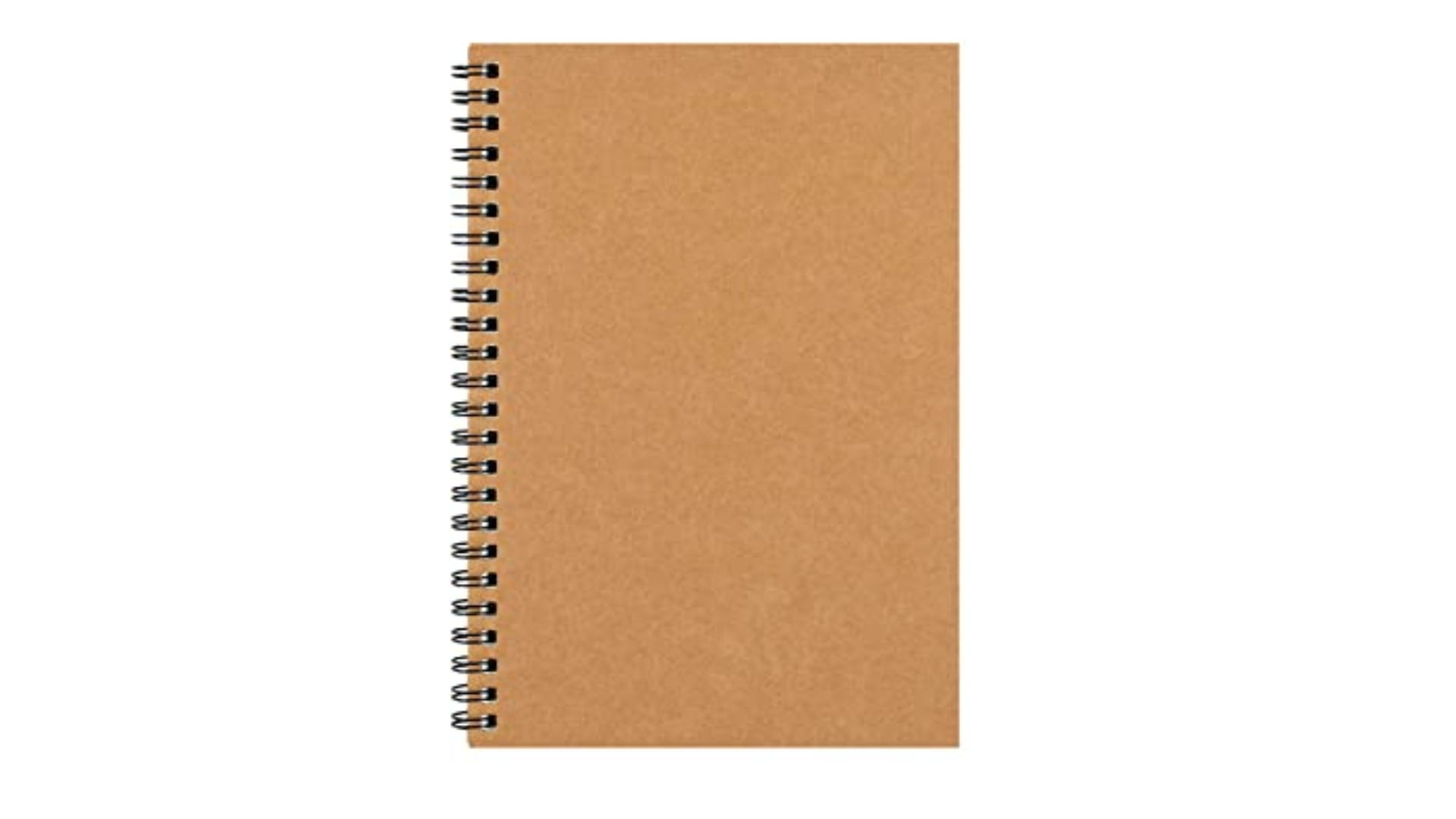 tan soft covered spiral bound notebook