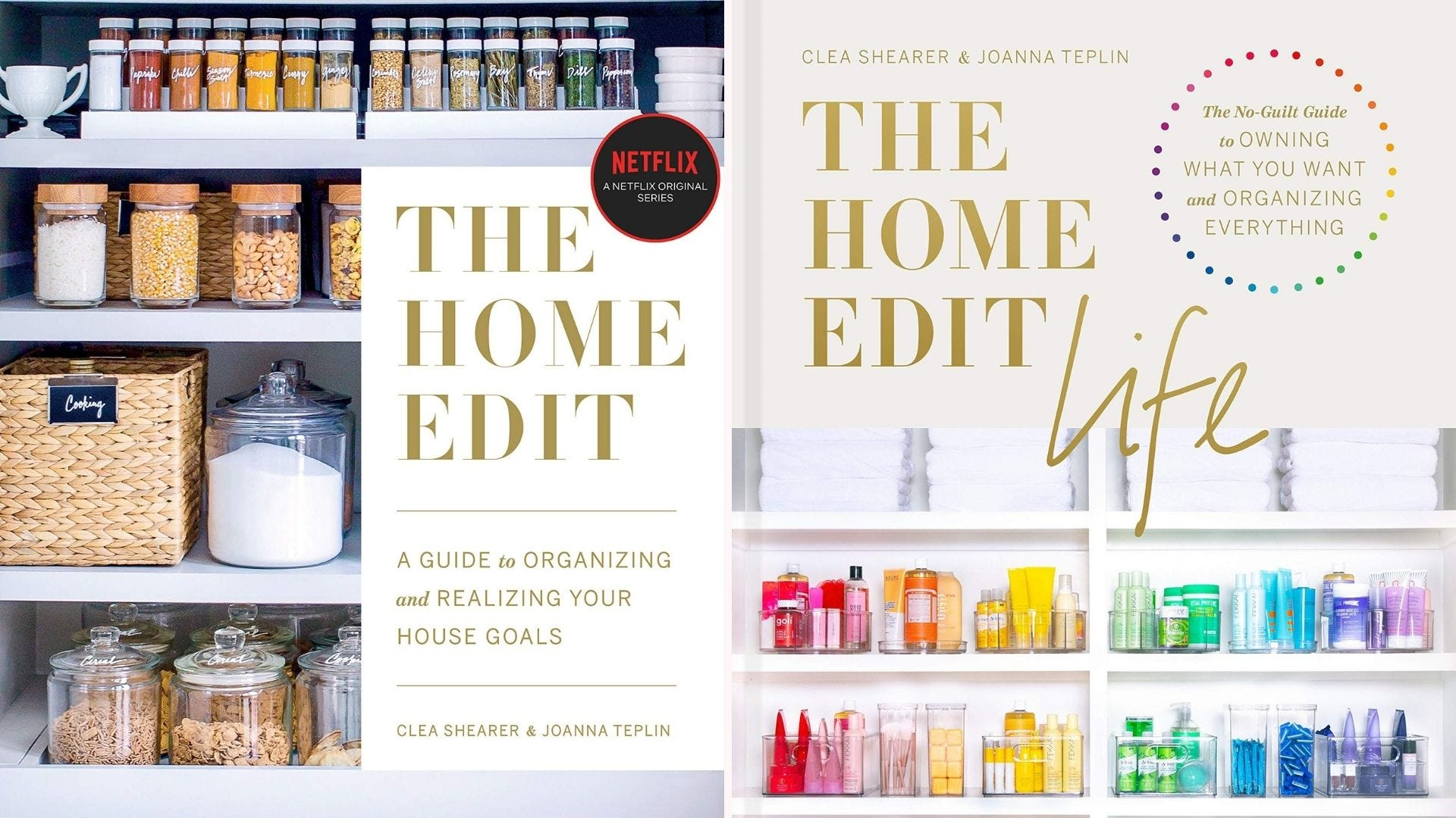 The covers of The Home Edit and The Home Edit Life books.