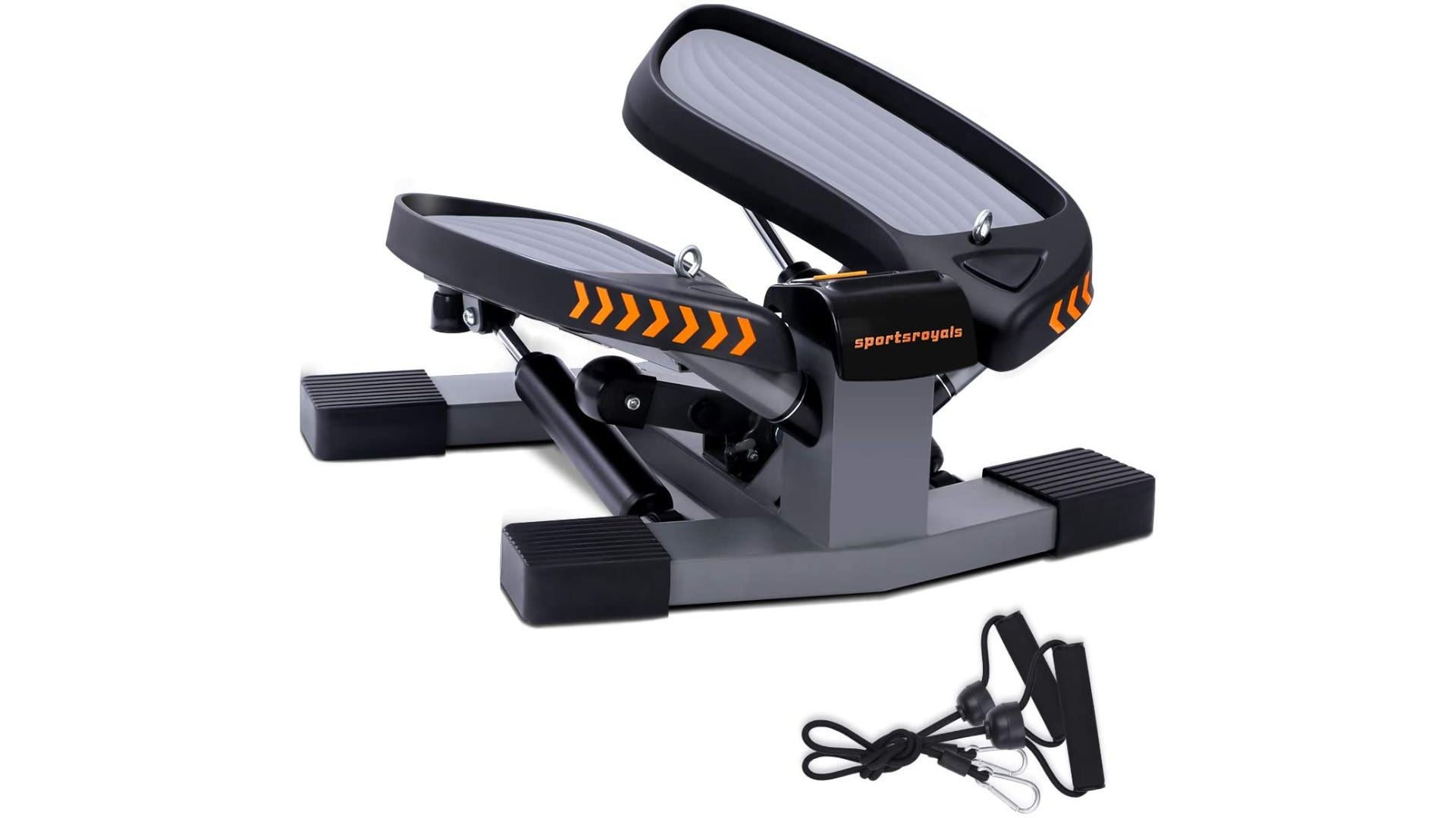 a small stair stepper machine with two resistance bands on the side