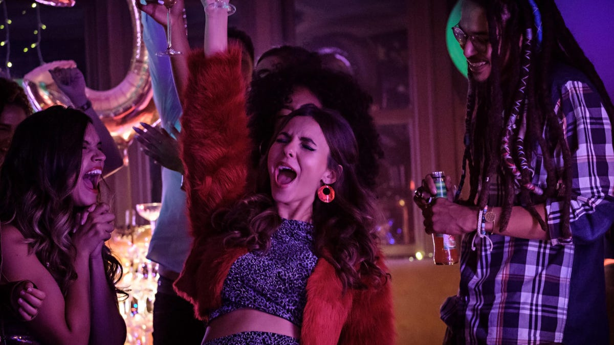 Victoria Justice partying in a scene from 'Afterlife of the Party.'
