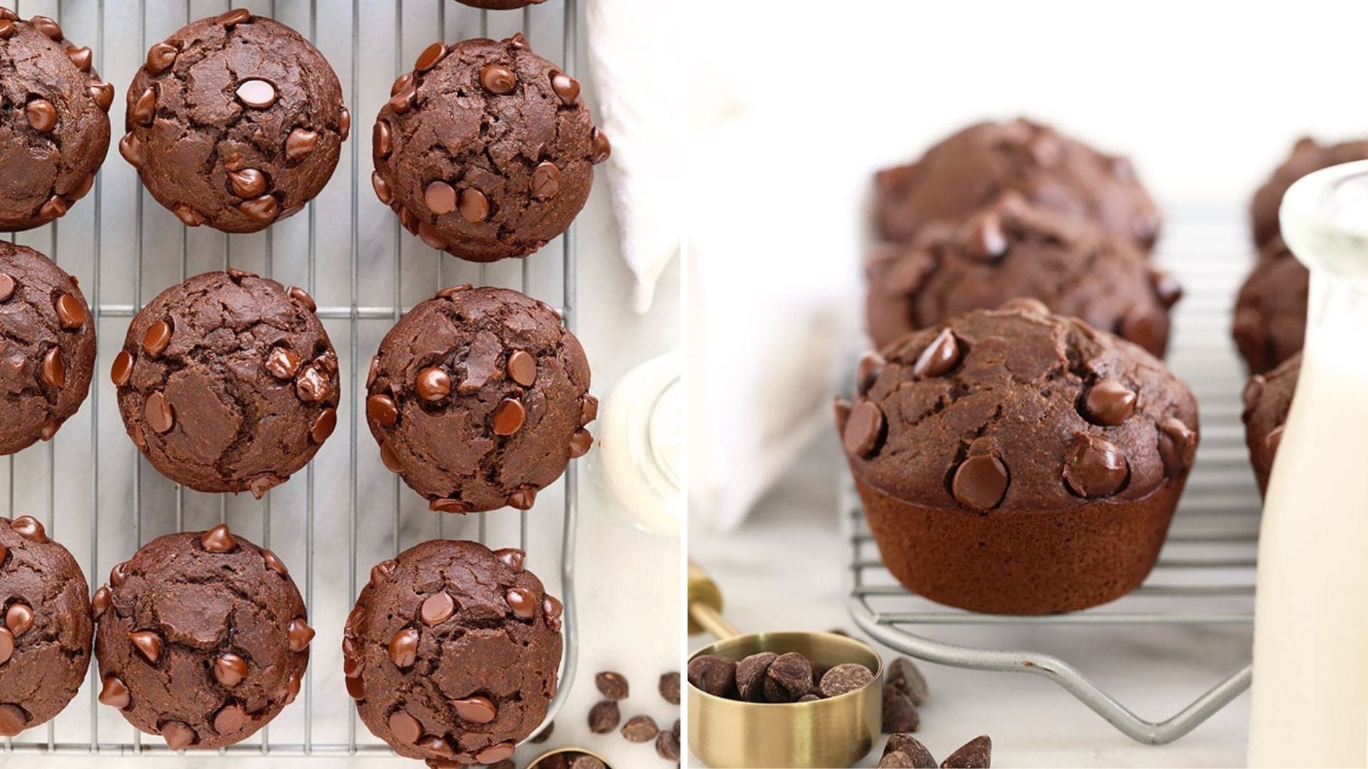 Several chocolate muffins