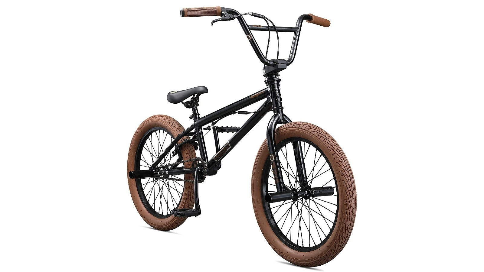This BMX bike comes with a durable steel frame
