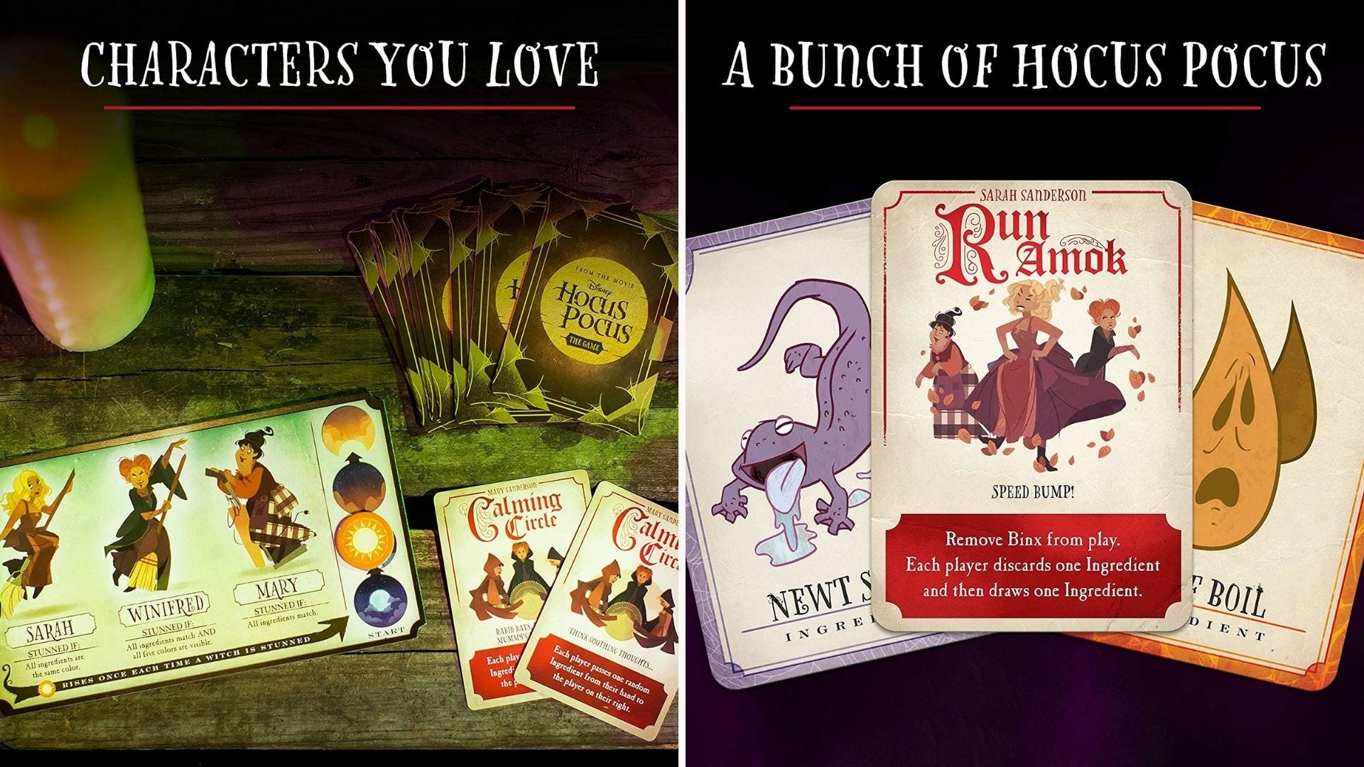Hocus Pocus themed cards for a board and card game