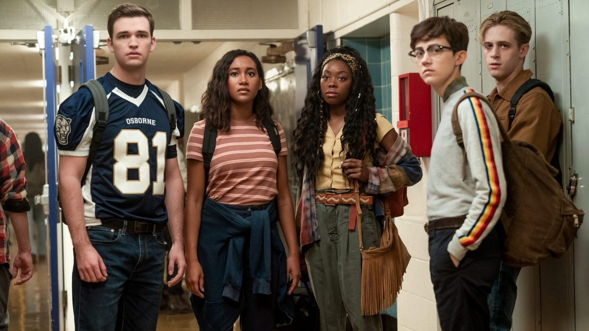 Sydney Park, Burkely Duffield, Asjha Dale Whibley, and Jesse LaTourette star in There's Someone Inside Your House.