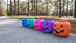 Here's Why Kids Carry Blue Trick or Treat Buckets