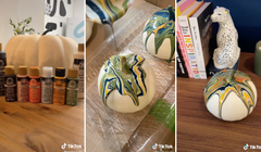 These Cute DIY Marble Pumpkins Are Surprisingly Easy to Make