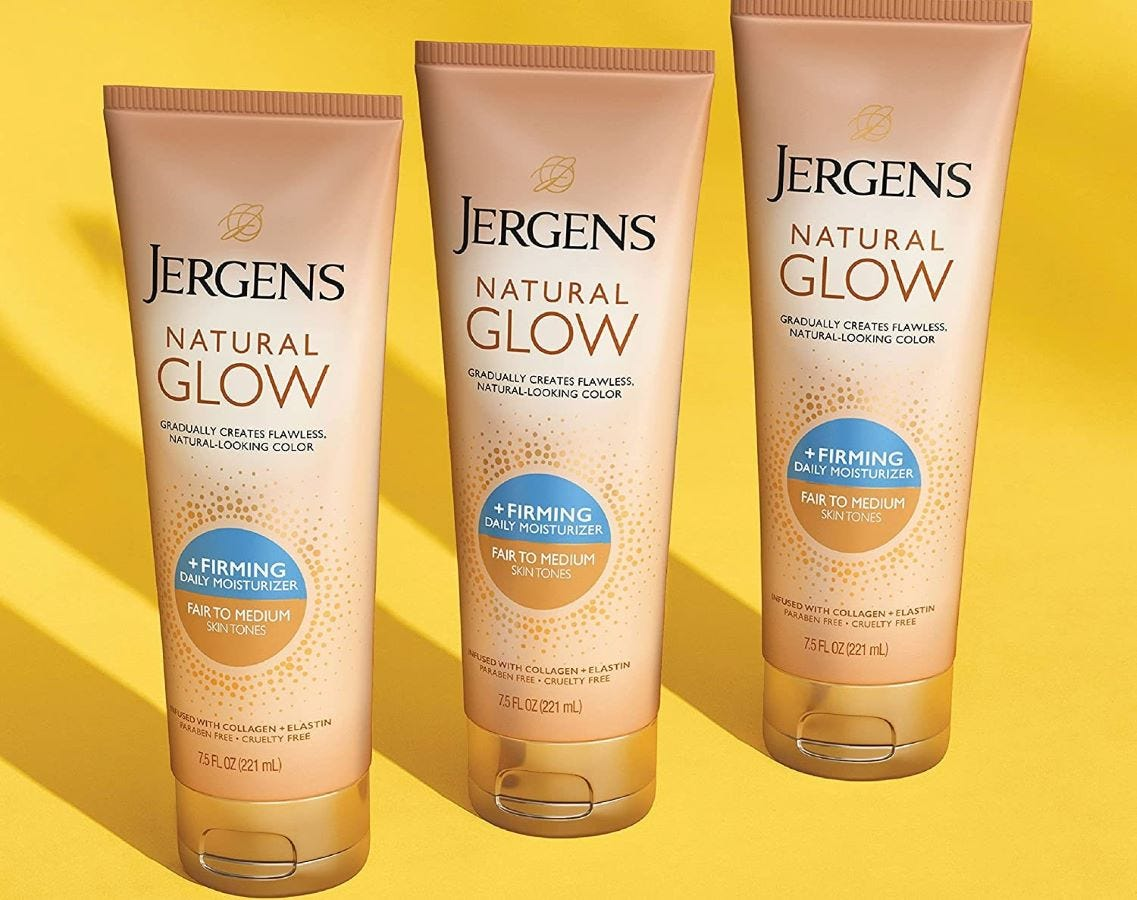 Three tubes of Jergens Natural Glow.