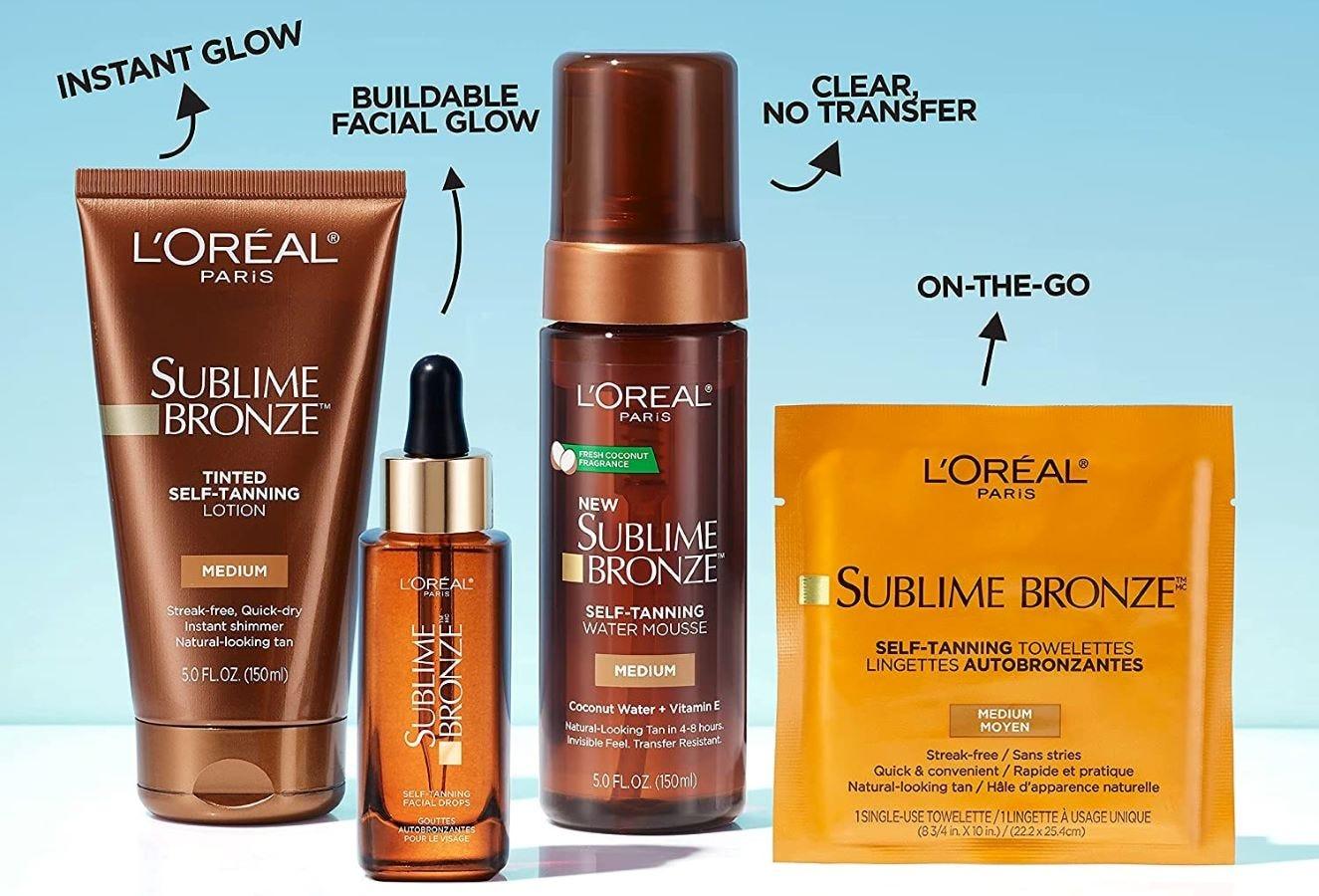 The L'Oréal Sublime Bronze line.