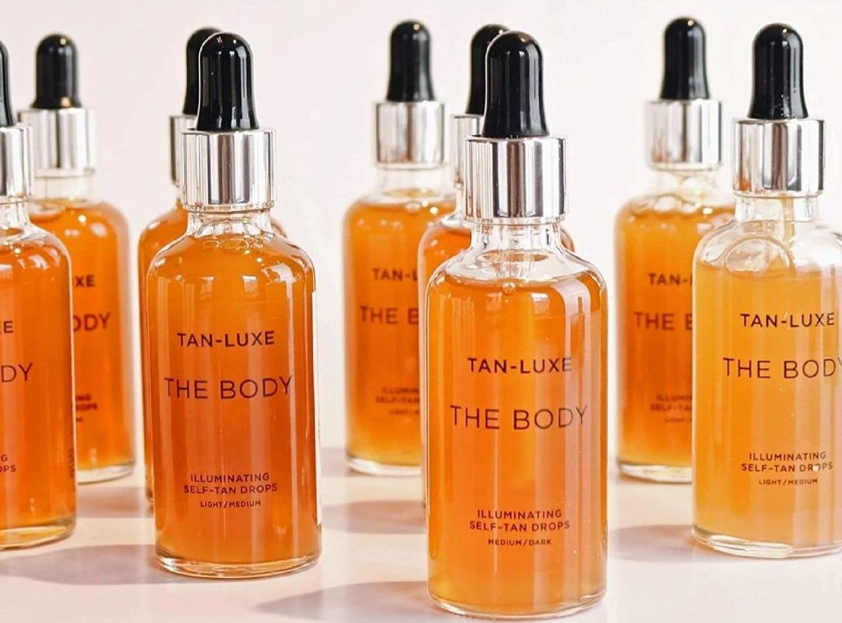 Nine bottles of Tan-Luxe The Body Illuminating Self-Tan Drops.