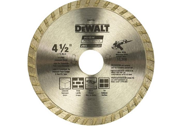 metallic silver-gold concrete saw blade