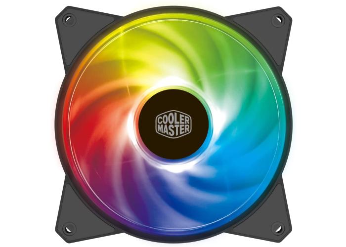 rainbow colored RGB fan