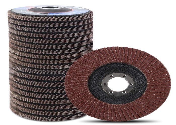stack of textured sanding discs