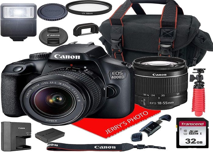 Canon digital SLR camera and assorted accessories