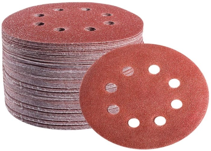 stack of perforated sanding discs