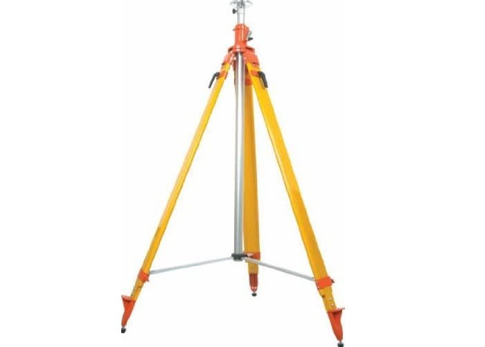 tall yellow and orange laser tripod