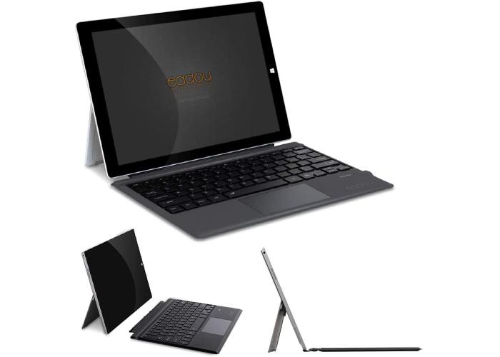 detachable black EADOU Microsoft Surface Pro type cover