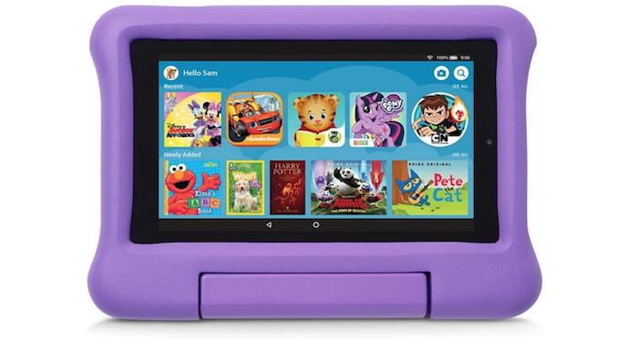 purple plastic children's Amazon Fire 7 case