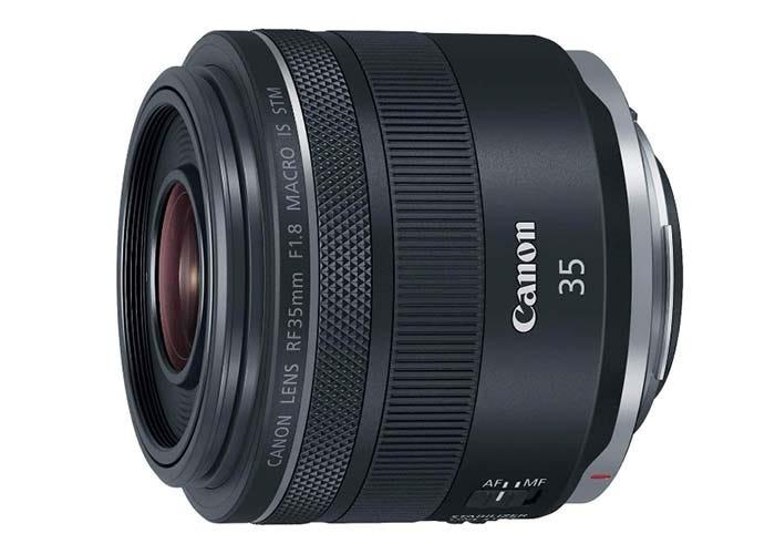 black Canon RF lens