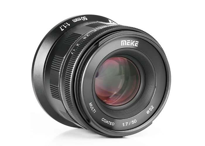 black Meike RF lens