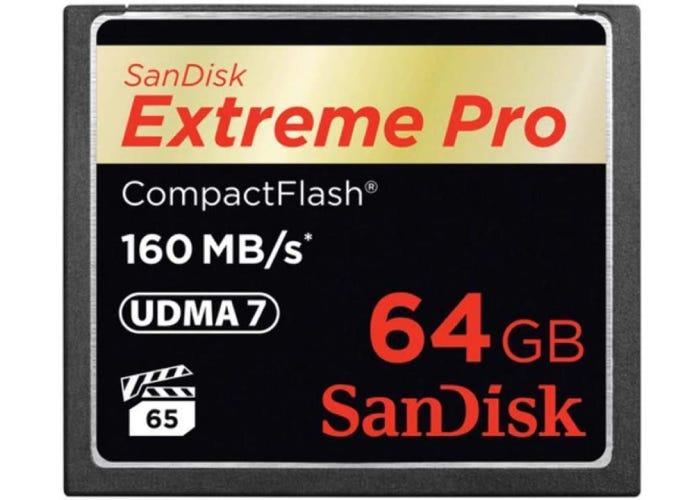 SanDisk 160 MB/s compactflash card