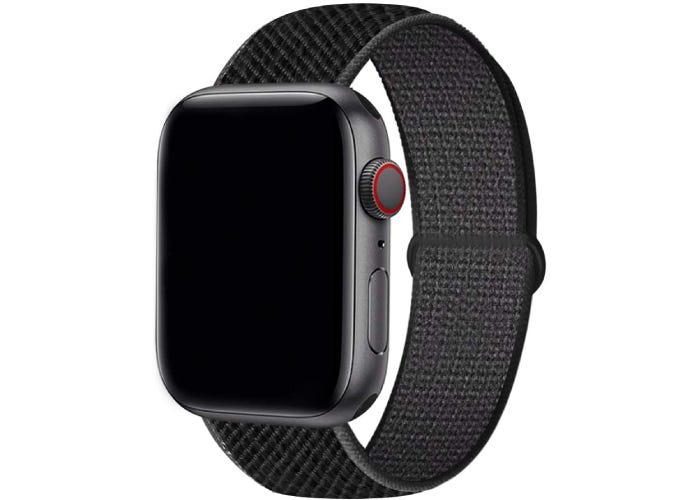 texture black Apple watch strap