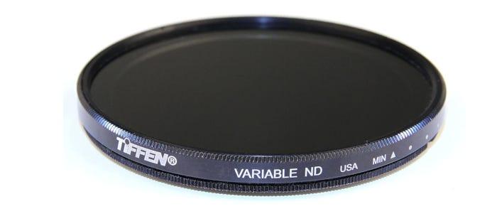 black and dark gray neutral density filter