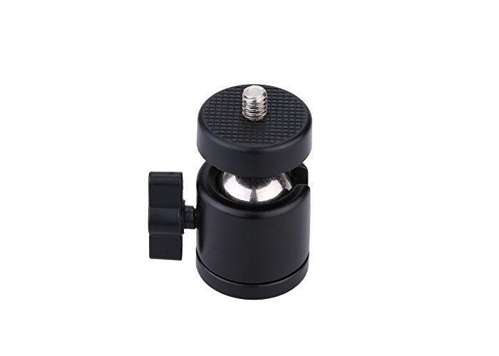 small, adjustable, compact black tripod ball head
