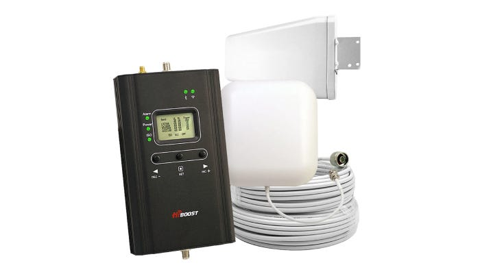 black and white cell phone signal booster kit