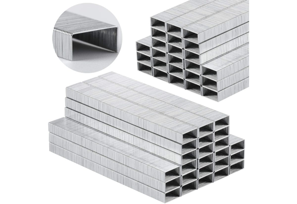 two stacks of rows of staples