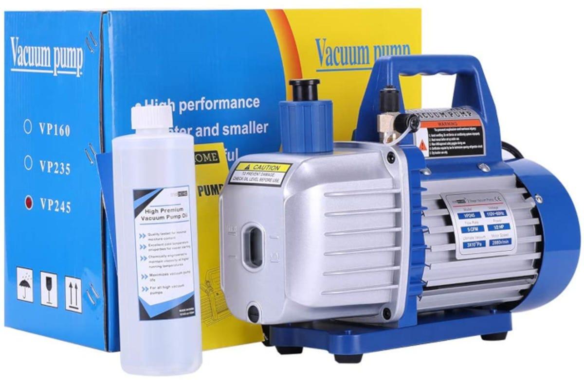 vacuum pump with its accompanying kit