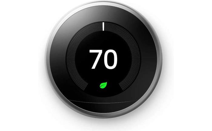 round black smart thermostat