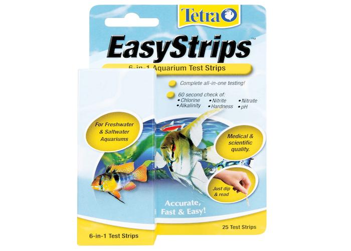packet of aquarium water testing strips